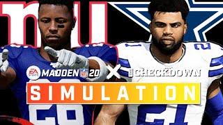 New York Giants vs. Dallas Cowboys Week 5 Full Game | Madden 2020 Season Simulation