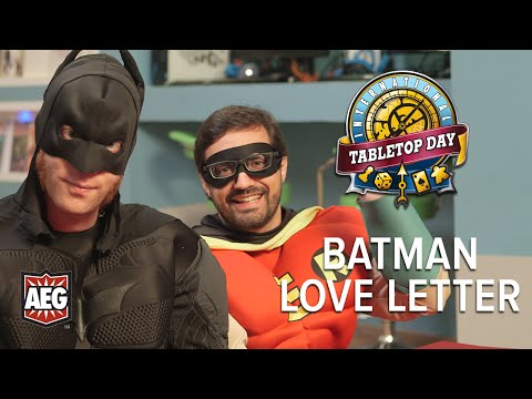 Twitch Hosts Ivan, Hector, Becca, and Ify dress up to play Batman Love Letter from AEG. From International TableTop Day sponsor AEG, comes Love Letter: ...