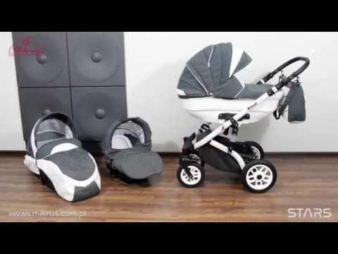 Детская коляска 2 в 1 MIKRUS STARS II в интернет магазине bebe-market.com.ua!