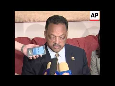 Jesse Jackson arrives to meet Fox and quash tensions