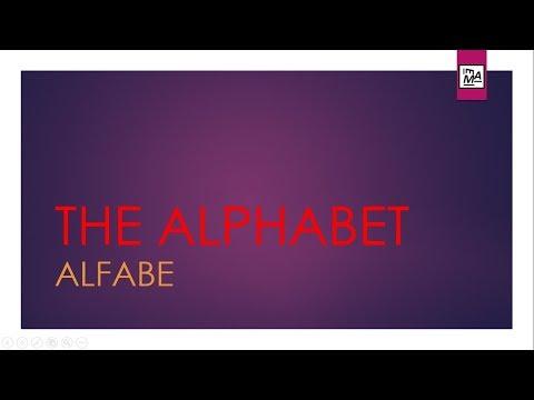 Sıfırdan İngilizce Öğreneceklere, The Alphabet, Alfabe