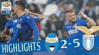 SPAL - Lazio 2-5 - Highlights - Giornata 20 - Serie A TIM 2017/18 streaming