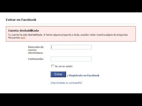 como puedo recuperar mi cuenta de facebook si fue inhabilitada