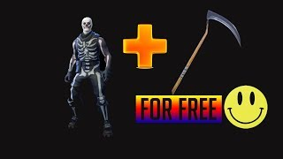 HOW TO GET THE SKULL TROOPER WITH SCYTHE FOR FREE IN FORTNITE