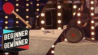 Tischtennis: Welcher Schläger ist der schlimmste? | Teil 1 | Beginner gegen Gewinner | ProSieben