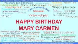 MaryCarmen   Languages Idiomas - Happy Birthday
