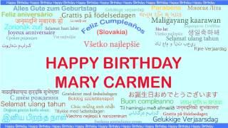 MaryCarmen   Languages Idiomas - Happy Birthday