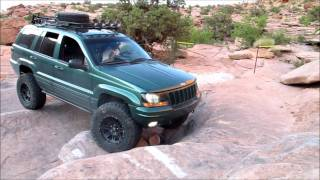 jeep wj s on the moab rim trail