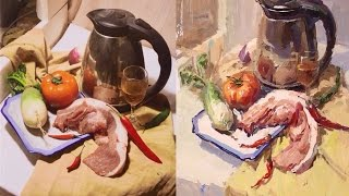 Still Life Painting in Gouache  Step by step