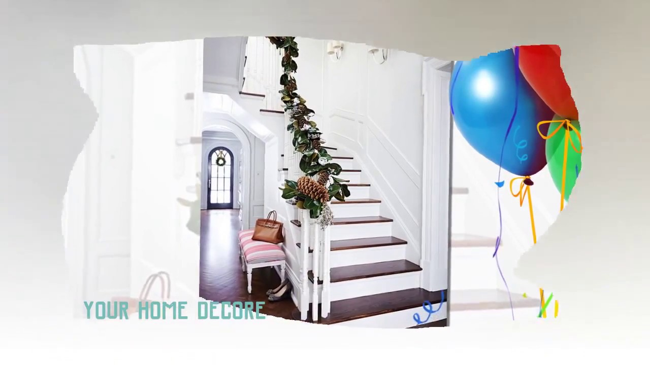 87 décoration de noel pour rampe descalier - bricolage comme la décoration  d\'un escalier pour noël