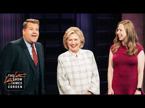 Hillary & Chelsea Clinton Crash James Corden's Monologue