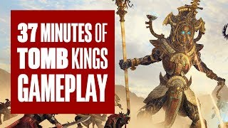 37 minutes of Total War: Warhammer 2 Tomb Kings Gameplay (Campaign/Battle)