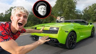 CAUGHT GAME MASTER STEALING THE LAMBORGHINI SHARERGHINI with TOP SECRET SPY GADGETS!! thumbnail