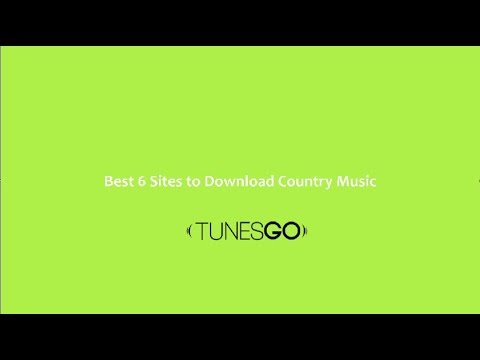 Best 6 Sites to Download Country Music | TunesGo|