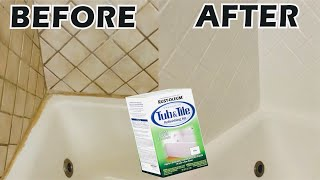 rustoleum tub and tile refinishing kit how to paint your tub tile bathroom makeover diy
