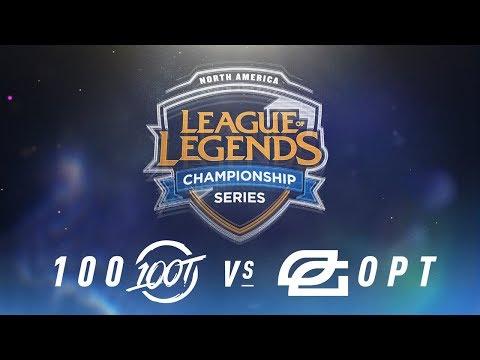 100 vs. OPT - Week 1 Day 1   NA LCS Spring Split   100 Thieves vs. OpTic Gaming (2018)