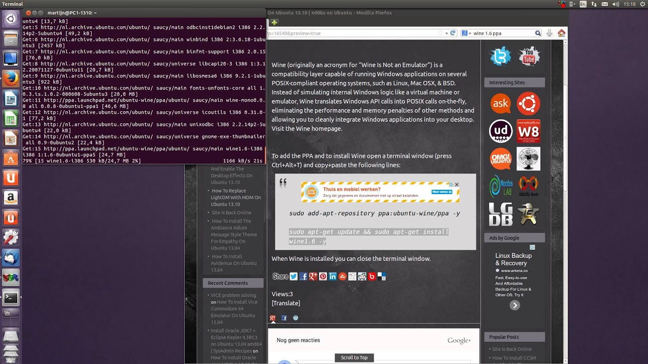 How To Install Wine 1 6 On Ubuntu 13 10