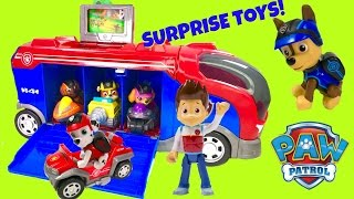 Paw Patrol Mission Cruiser with Magical Toy Surprises Pus new Vehicles - Stop Motion