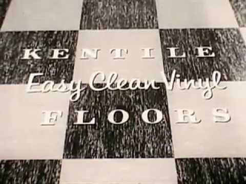 Vintage Old S Easy Clean Kentile Vinyl Asbestos Floor Tile - Vinyl asbestos floor tile