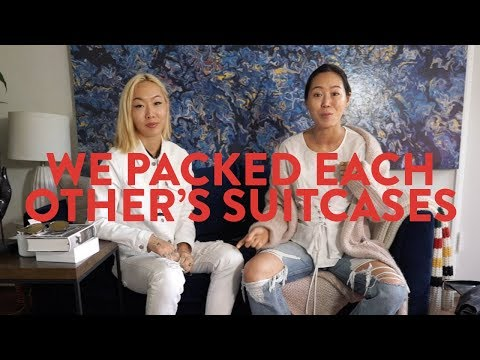 My sister and I pack each others suitcases for Japan ft Dani Song  Aimee Song