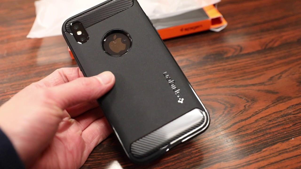 Spigen Rugged Case - iPhone X - Hands on Look!