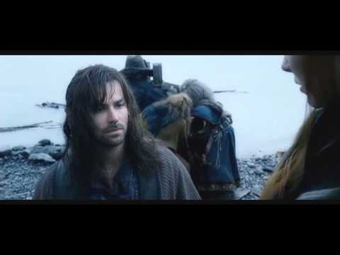 Kili and Tauriel Beach scene