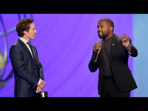 Kanye West speaks at pastor Joel Osteen's Houston megachurch I ABC7 - YouTube