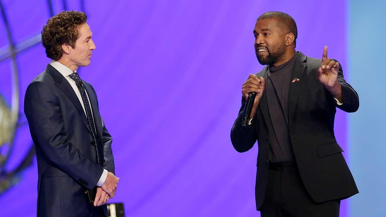 Kanye West speaks at pastor Joel Osteen's Houston megachurch I ...