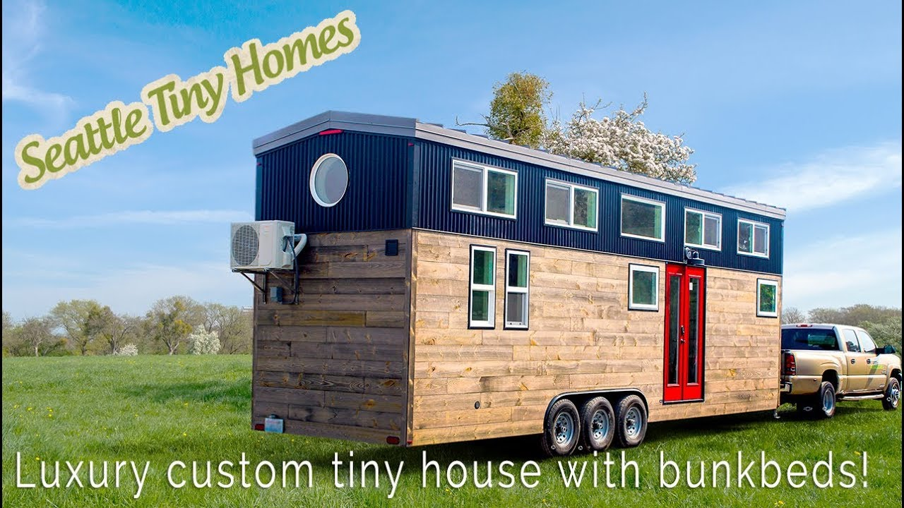 Tiny House On Wheels Main Floor Bedroom With Bunkbeds Seattle Tiny
