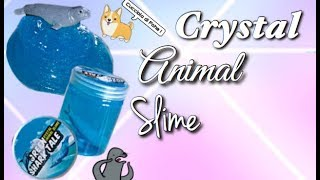 GREEN SHARK TALE CRYSTAL ANIMAL SLIME !! -// Slime Tv