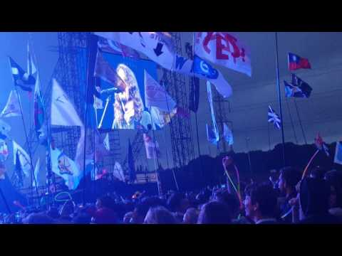 Foo Fighters Glastonbury 2017 Intro speech dedicated to Florence and The Machine - Times Like These