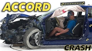 2015 Honda Accord 2-door Coupe CRASH TEST IIHS Small Overlap [GOOD]