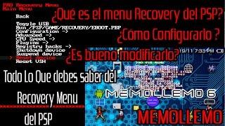 Menú Recovery del PSP| que es? como configurarlo? Es Peligroso? |