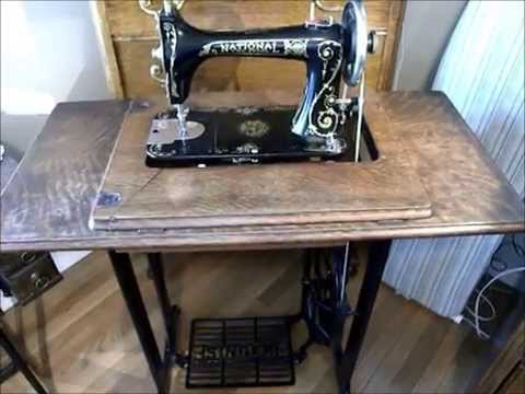 Portable Treadle SewingMachine Cabinet YouTube Inspiration How To Set Up A Sewing Machine Table