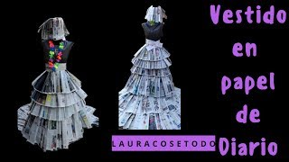 c4ecc49076 Vestido de papel de diario 📰✂ Laura Cosetodo ...