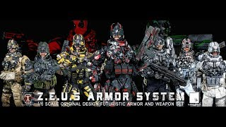 1/6 scale Z.E.U.S  Armor Collection by Calvin's Custom