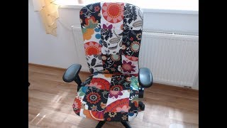 Židle ve stylu patchwork