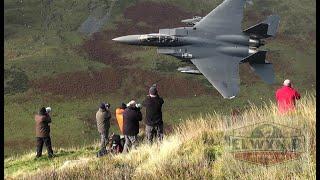 Four-ship F-15 Eagles Low-Level Mach-Loop!!