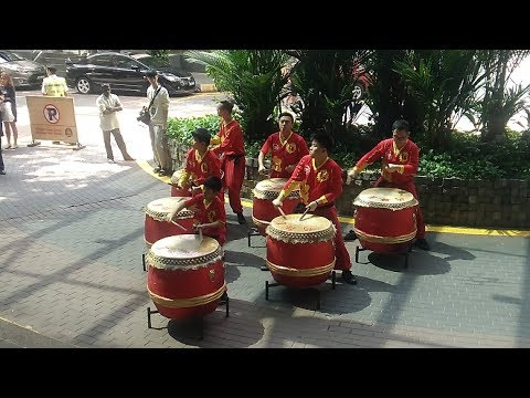 Lion Dancers + Drummers at Plaza Low Yat (Kuala Lumpur, Malaysia)