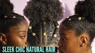 Spicy high Bun on 3c Natural Hair Tutorial