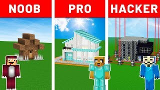 MINECRAFT NOOB vs PRO vs HACKER 😂 ¡RETO DE LA BASE SUPER PROTEGIDA! | #EntreDimensiones #10