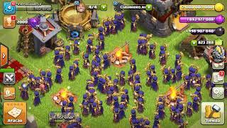 Atacando con muchas brujas y esbirros! ( Clash of clans servidor privado)