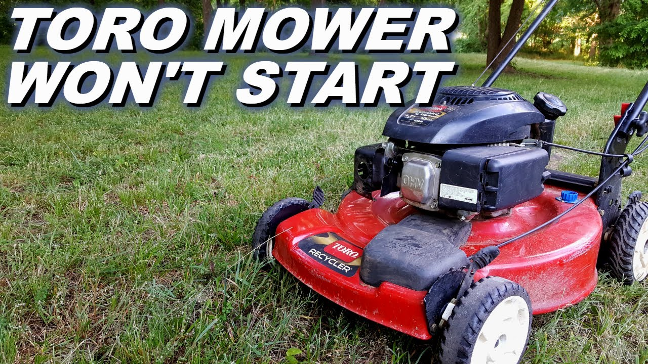 Toro Lawn Mower Won T Start Youtube