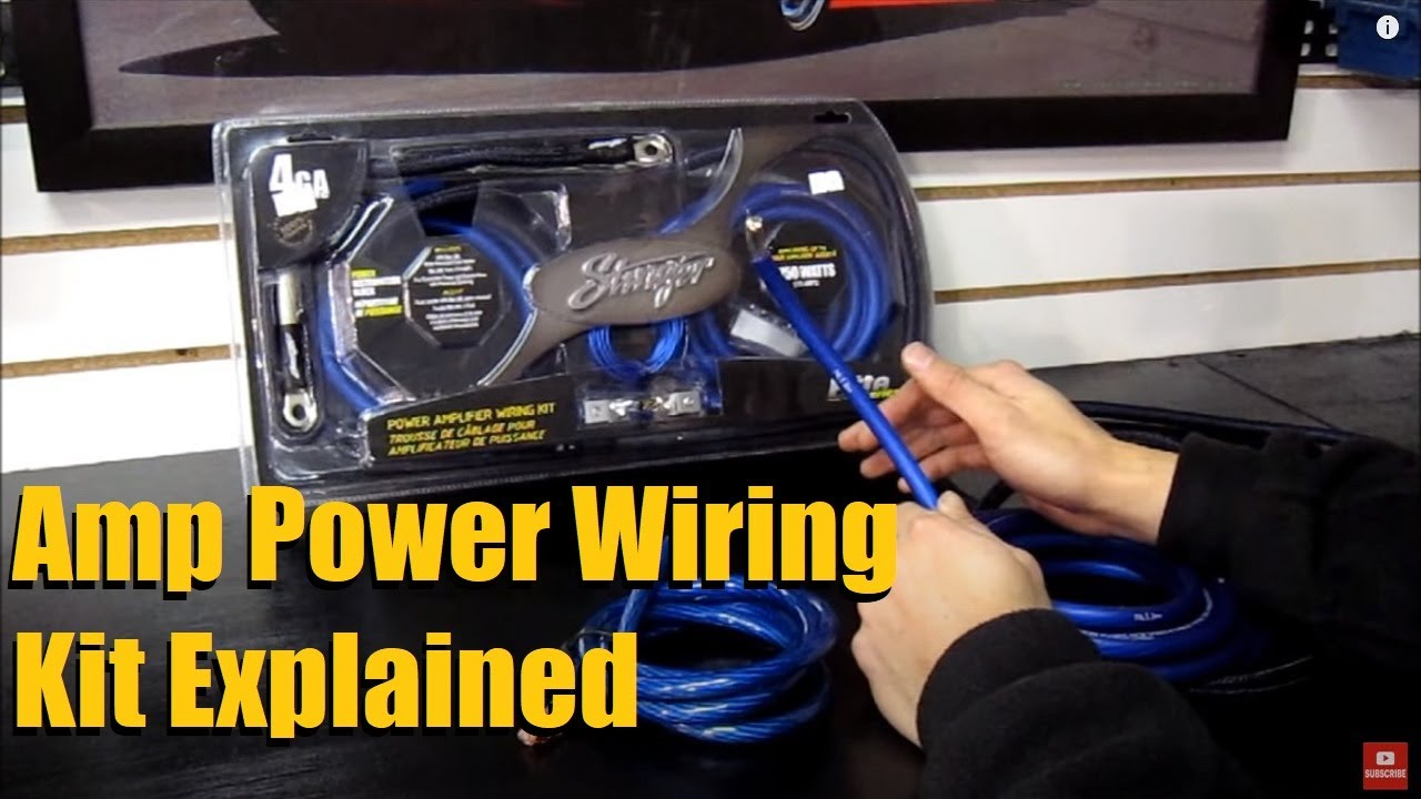 amp power kit guide wire thickness and contents explained youtube rh youtube com Tanki Stinger Kit Stinger Kit Car