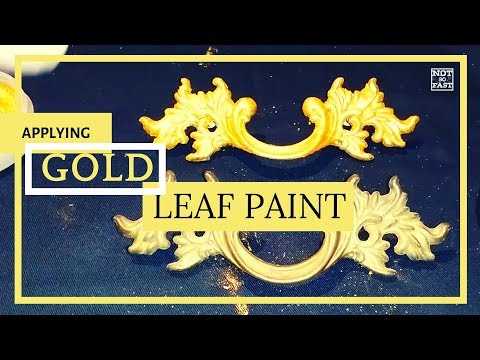 How to Applying Great gold leaf paint to your furniture hardware or picture frame 1