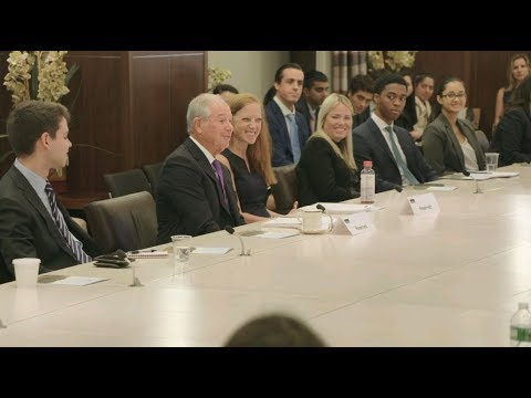 Steve Schwarzman Delivers Welcome Remarks to Blackstone's New Analysts