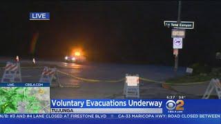 Voluntary Evacuations Underway In Tujunga Area