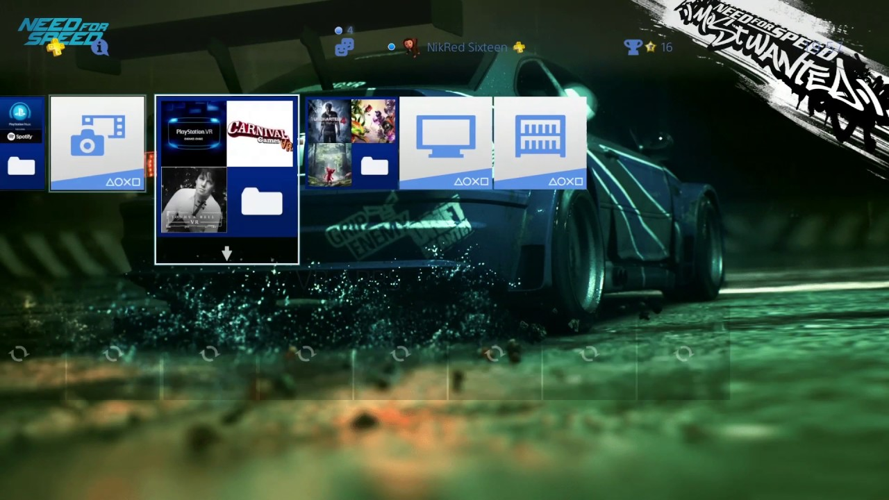 Ps4 Need For Speed Most Wanted Theme Free On Uk Psn Store Youtube