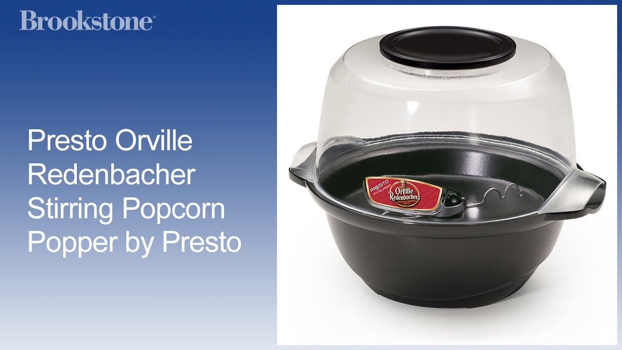 Presto Orville Redenbacher Stirring Popcorn Popper By Presto Youtube