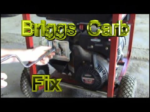briggs and stratton 10hp generator carburetor repair